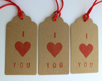 Gift tags for anniversaries, gifts and valentines day presents, set of 3