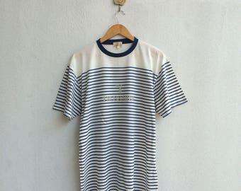 Vintage Trussardi Stripe T-Shirt Nice Design