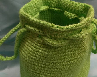 Lime Green Bag - Extra Large - Bucket Style, Multi Use