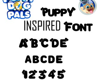 puppy dog pals font  True Type. To install and write