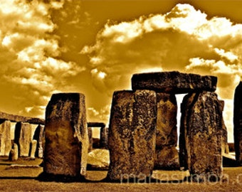 "Presence  - Stonehenge Limited Edition digital art print A4 8.3"" x 11.7"""