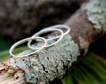 Custom Sized Fine Silver Stacking Rings - Set of 3