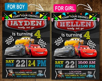 Cars Invitation Etsy Party Invitations Free Sample Business Template