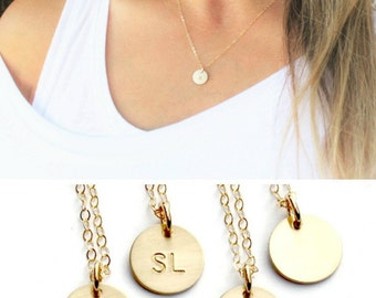 Gold Initial Necklace, 1 2 3 Initial Gold Necklace, Personalized Necklace, Dainty Necklace, Personalized Jewelry, Gold Letter Necklace