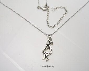 Kokopelli necklace etsy kokopelli necklace antiqued silver kokopelli pendant flute player necklace spirit of music necklace aloadofball Choice Image