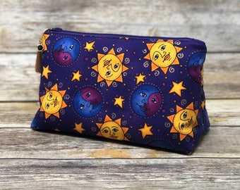 Celestial Makeup Bag Gift for Her | Handmade Cosmetic Bag