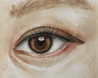 Original eye watercolor painting,watercolor art,eye painting,small art,small painting