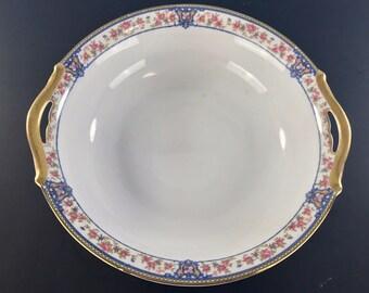 "NORITAKE NIPPON China ""The Malay"" Pattern Circa 1912 - 1 Handled Serving Bowl"