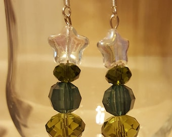 Christmas Jewelry, Christmas Tree Earrings, Holiday Earrings, Swarovski Earrings, Christmas Earrings, Dangle Earrings, Silver Earrings