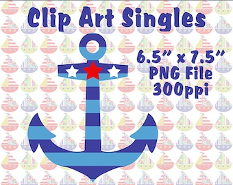 Clip Art Singles, Anchor Clip Art, Whimsical Clipart, Instant Download, Digital Downloads, Downloadable Graphics, Anchor Graphics, PNG File