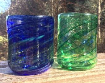 Cobalt-Iris Green Pair