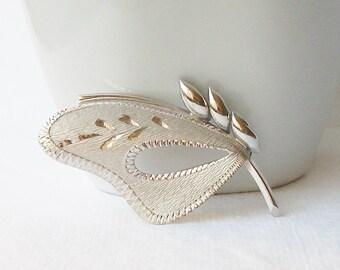 Vintage Sterling Brooch, Sterling Silver Brooch, Silver TK brooch Pin