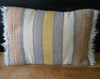 Vintage Pastel Stripes  Navajo Pillow