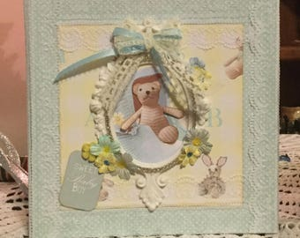 Handmade Baby Book Mini Album It's A Boy