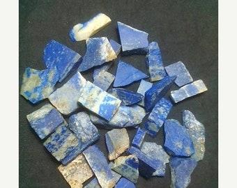 80% OFF SALE 10 Pieces Lapis Lazuli Rough Slab's