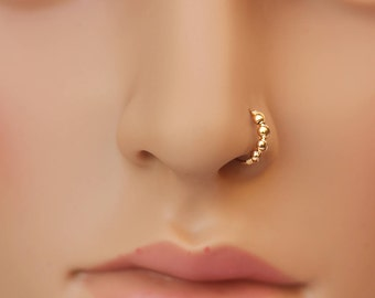 Gold nose ring Etsy
