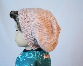 """18"""" Boy Doll Hat, made to fit American Boy Doll, Slouch Beanie, 18 inch Doll Clothes, 18"""" Doll Hat, Hand Knit Doll Clothes"""