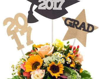 2017 Graduation Centerpiece Stick, 2017 Graduation Centerpiece Party Decor, 2017 Graduation Decorations, 2017 Graduation Sticks