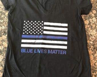 Blue Lives Matter Womens T-Shirts