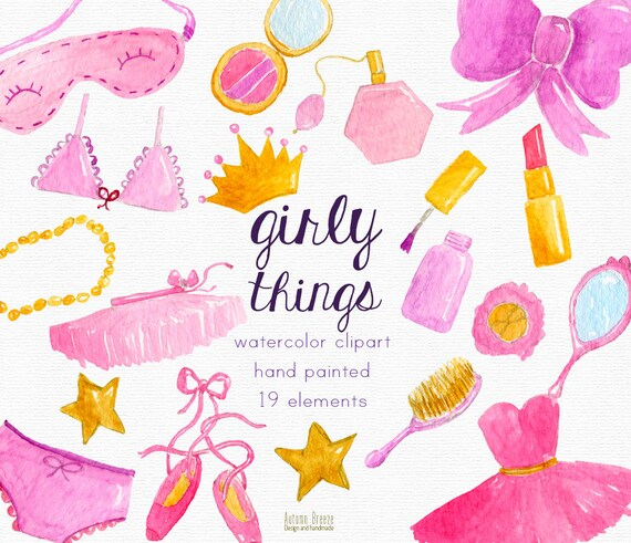 watercolor girl clipart pink girly clip art pink rh etsy com girl clipart face girl clipart face