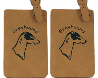 Greyhound Head Luggage Tag 2 Pack L3320