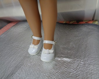 White Patent Leather Doll Shoes-Shoes -Vintage Shoes-  for Sasha and Magic Attic Club