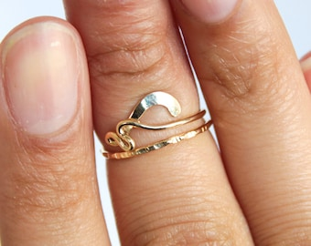 Gold Midi Ring Gold Knuckle Ring Adjustable Midi Ring Above Knuckle Ring Gold Adjustable Ring Womens Midi Ring Adjustable Gold Ring Midi