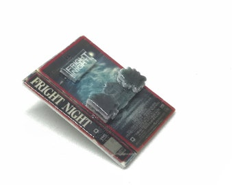 3D shrink film Fright Night VHS box art jewelry