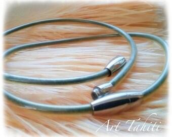 Tahitian black sand necklace - 42cm