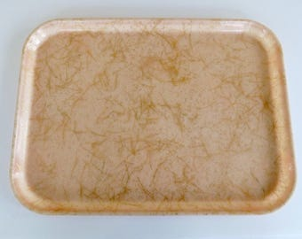 Set of 2 Gold-Laced Trays (Pink & White)