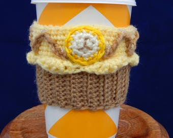 Caramel Banana Cupcake Coffee Cup Cozy