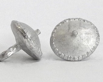 Replica Tudor Pewter Piecrust Buttons for Renaissance/Elizabethan Reenactment