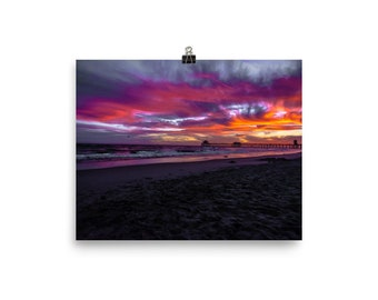 Huntington Beach Pier Sunset 3