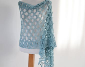 SHANSA, Crochet shawl pattern, pdf