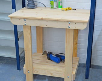 3FT Wooden Workbench    Handmade   VERY STRONG & STURDY   Next Day Delivery   Top Quality!