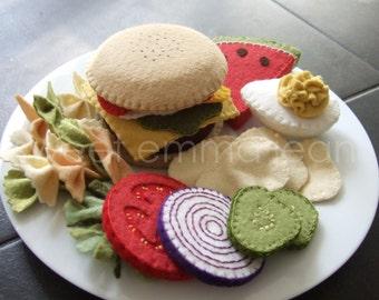 Felt Food - Summer Cookout Set - Sewing Pattern PDF