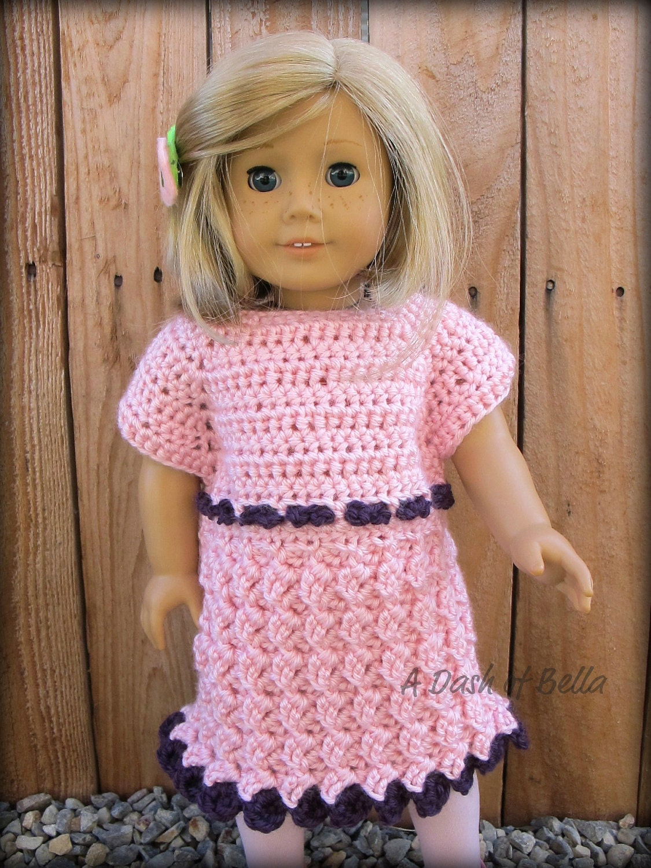 American Girl Puppe Party Kleid häkeln Muster