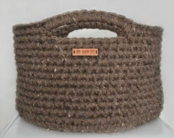Made to Order: Large crocheted basket with handles