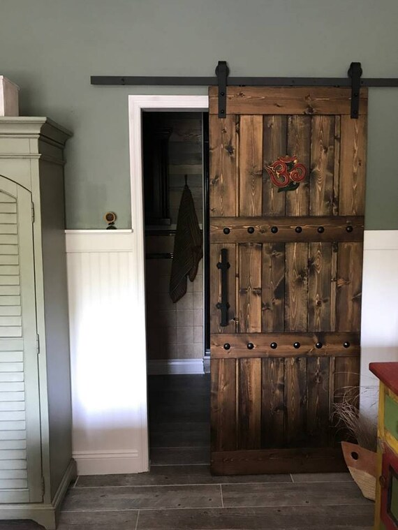 Captivating Horizon Interior Barn Door   Sliding Wooden Door   Barn Door W/ Hardware    Farmhouse Style Door   Rustic Barn Door   Barn Door Package
