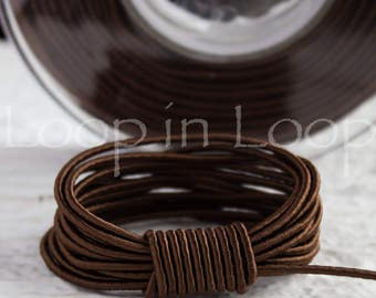 15%OFF Dark Brown SILK cord, Wrapped Silk Satin Cord rope 1.5 mm thick organic natural hand spun silk, polyester core, for Jewelry (3 feet)