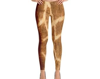 Giraffe leggings Adult Giraffe leggings Giraffe Costume Giraffe animal print leggings  sc 1 st  Etsy & Giraffe costume | Etsy