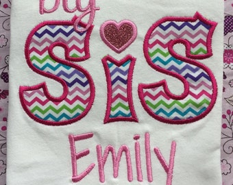 Boutique Personalized Big Sister Shirt