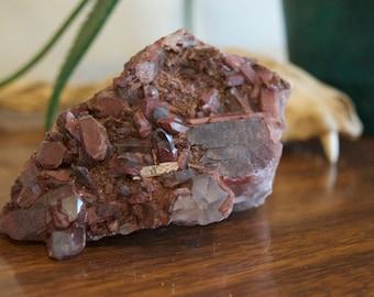 Medium Phantom Hematite Quartz Cluster