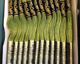 DMC 471 Very Light Avocado Green Embroidery Floss 2 Skeins 6 Strand Thread for Embroidery Cross Stitch Needlepoint Sewing Beading
