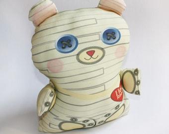 Halloween toy, mummy toy bear, Organic cotton, Stuffed toy, baby toy, plush toy, teddy bear, Organic toy