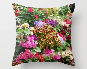 Floral Pillow, Throw Pillow, Floral Decor
