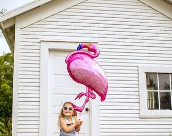 Flamingo Balloon - Flamingo Party Decor - Let's Flamingle Party Decor - Let's Flamingle Balloon - Tropical Party Decor - Luau Party Balloon