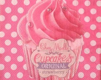 "1 ""By Miss cupcake"" paper towel"