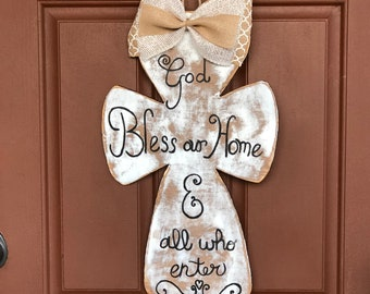God Bless Our Home Wood Sign