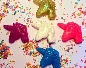 Unicorn - Unicorn Soap - Set of 5 - Free U.S. Shipping - Glitter Soap - Unicorn Birthday - Party Favors - Gift for Girl - Soap for Kids